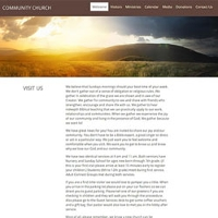 Free church website template pronofoot35fo Image collections